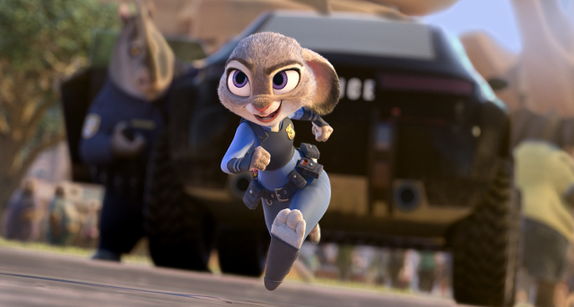 """ZOOTOPIA ??OFFICER HOPPS -- Judy Hopps (voice of Ginnifer Goodwin) believes anyone can be anything. Being the first bunny on a police force of big, tough animals isn't easy, but Hopps is determined to prove herself. Featuring score by Oscar?-winning composer Michael Giacchino, and an all-new original song, """"Try Everything,"""" performed by Grammy? winner Shakira, Walt Disney Animation Studios' """"Zootopia"""" opens in U.S. theaters on March 4, 2016. ?2015 Disney. All Rights Reserved."""