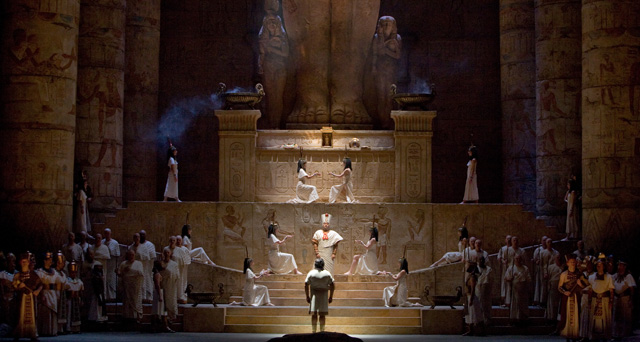 "A scene from Verdi's ""Aida"".  Photo: Marty Sohl/Metropolitan Opera"